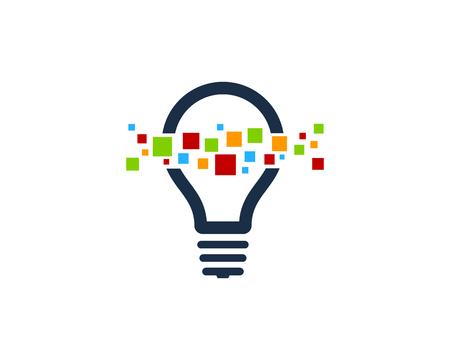 Creative Idea Icon Logo Design Element  イラスト・ベクター素材