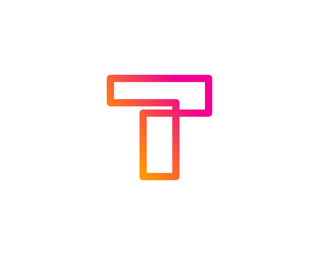 Letter T Icon Logo Design Element  イラスト・ベクター素材