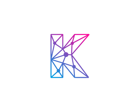 Letter K Network Icon Logo Design Element