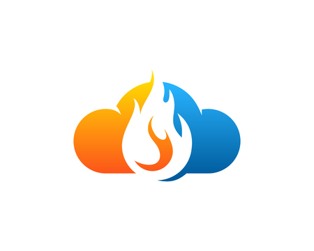 Fire Flame Icon Logo Design Element Illustration