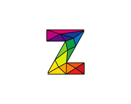 Élément de conception de logo coloré Low Z icône Logo icône