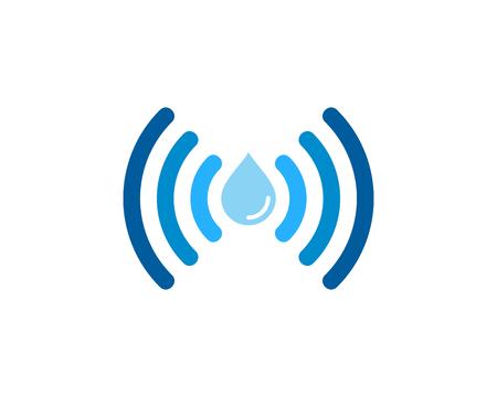 Wifi アイコン ロゴのデザイン要素  イラスト・ベクター素材