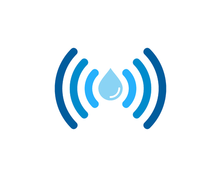 Wifi Icon Logo Design Element 向量圖像