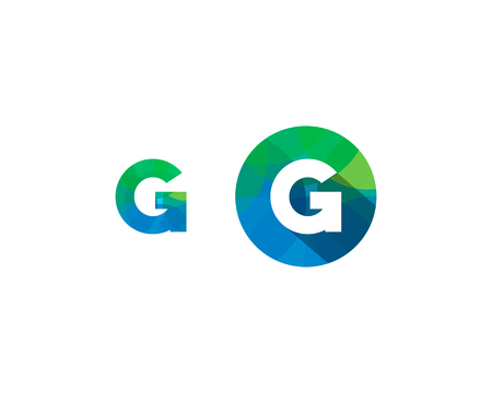 Letter G Multipy Color Icon Logo Design Element Illusztráció