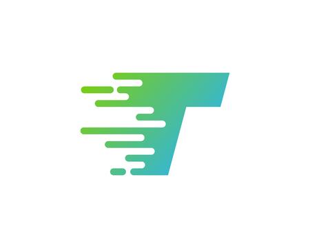 문자 T 아이콘 로고 디자인 요소