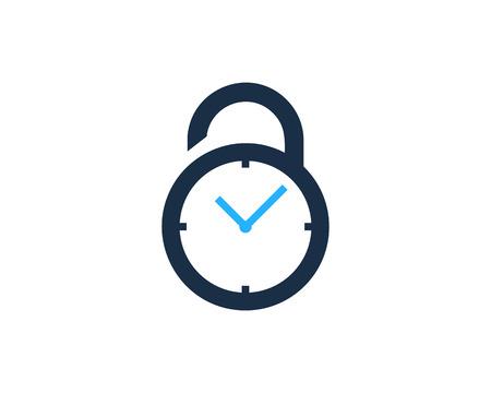 Security Pad Lock Icon Logo Design Element