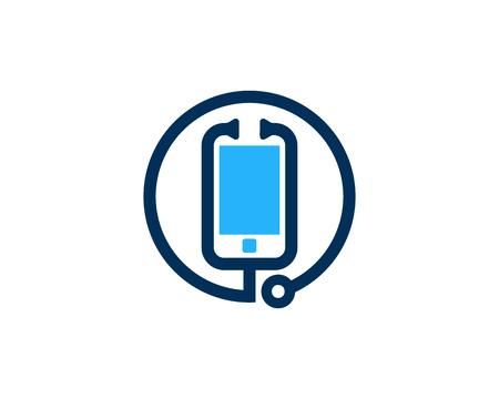 smartphone apps: Mobile Phone Icon Logo Design Element