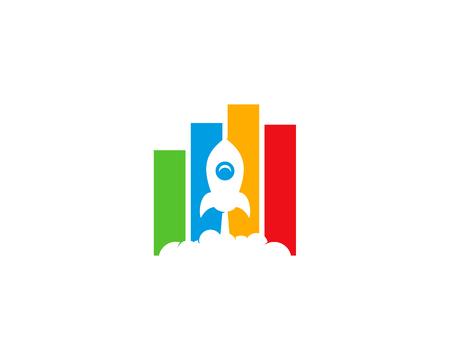 Statistic Icon Logo Design Element