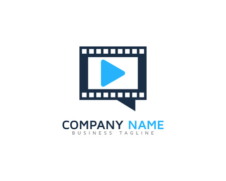 Video Icon Logo Design Element Stock Vector - 80806452