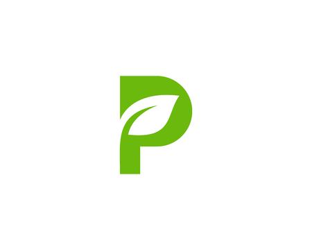 Letter P Icon Logo Design Element Ilustração