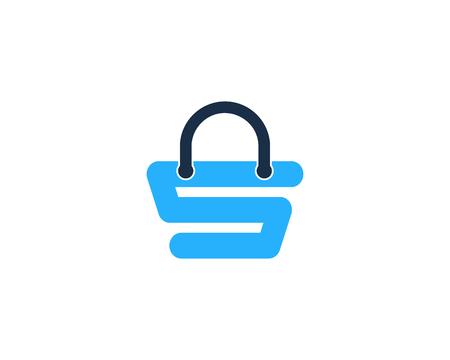 Shopping icône élément de design de logo Banque d'images - 80767978