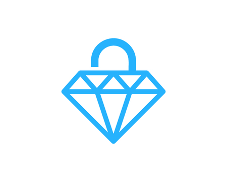 lockout: Security Pad Lock Icon Logo Design Element