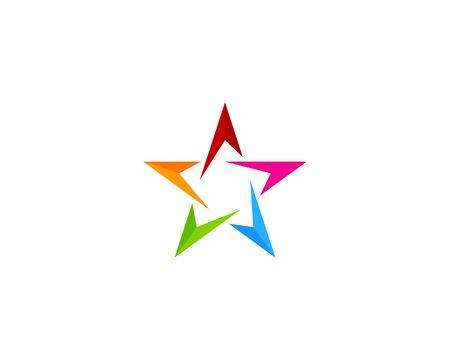 elite sport: Star Icon Logo Design Element