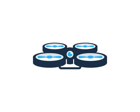 hover: Drone Icon Logo Design Element