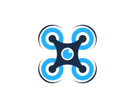 Drone Icon Logo Design Element