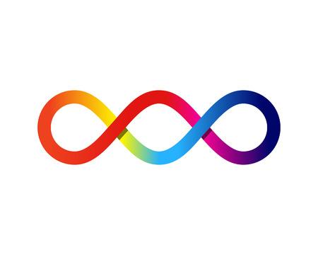 무한 아이콘 로고 디자인 요소