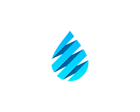 Water Icon Logo Design Element Ilustrace
