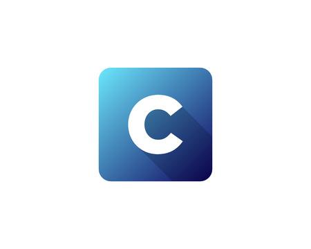 Modern Gradation Shadow Letter C Icon Logo Design Element