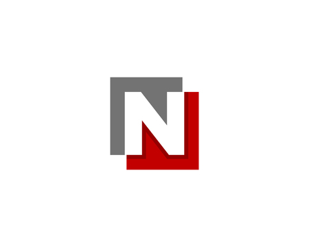Letter N Icon Logo Design Element