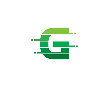 Letter G Pixel Cut Line Icon Logo Design Element Logó