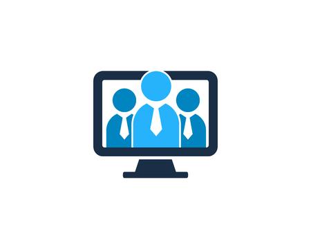 Icono de equipo de personas elemento de diseño de logotipo