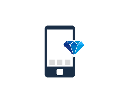 Diamond Icon Logo Design Element Фото со стока - 80612298