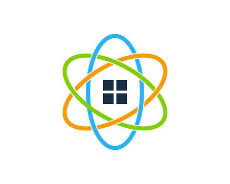 Real estate icon logo design element.