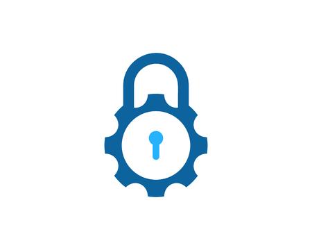 Beveiligingsslot pictogram ontwerpelement Vector Illustratie