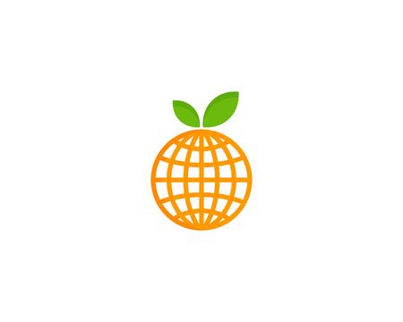 과일 아이콘 로고 디자인 요소 일러스트