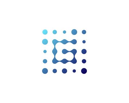 Letter G Dot Icon Logo Design Element Illusztráció