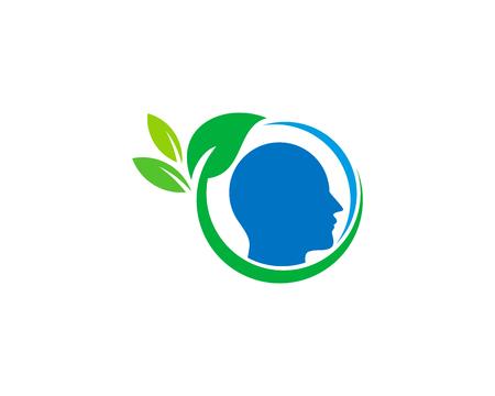 웰빙 아이콘 로고 디자인 요소