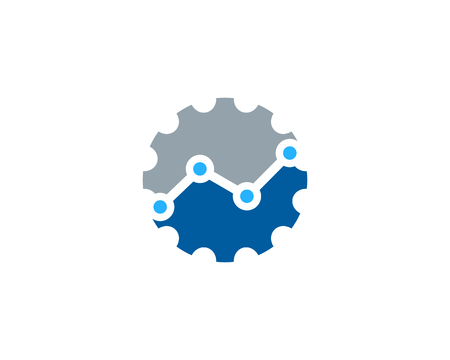 Gear Icon Logo Design Element 일러스트
