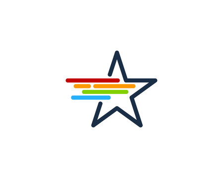 Star Icon Logo Design Element