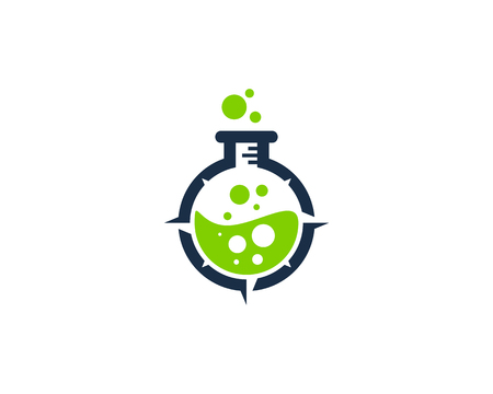 Lab Compass Icon Logo Design Element