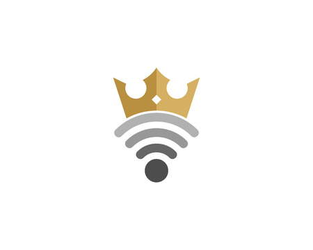 wireless connection: Wifi Icon Logo Design Element Illustration