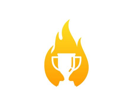 star award: Trophy Icon Logo Design Element
