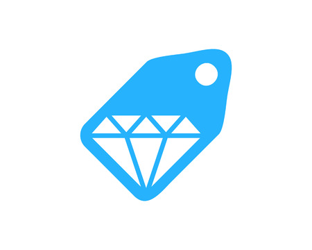 expensive: Diamond Icon Logo Design Element Illustration