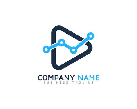 logo music: Video Icon Logo Design Element