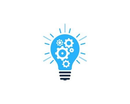 独創的なアイデアのアイコン ロゴのデザイン要素