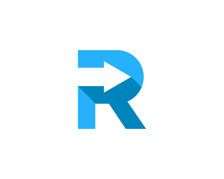 Letter R Icon Logo Design Element Illustration
