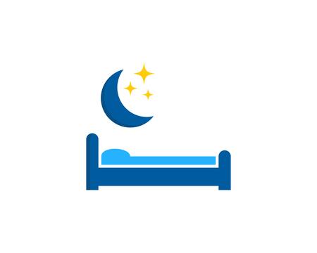 Elemento di design logo di icona di sonno.