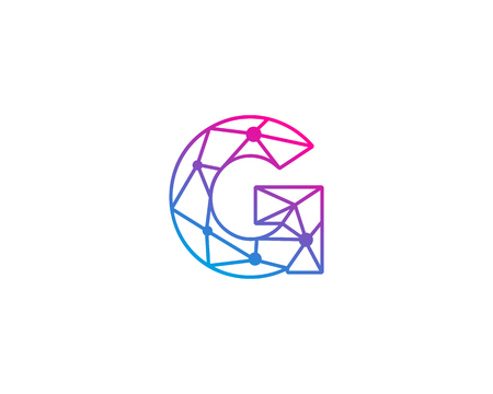 Letter G Network Icon Logo Design Element