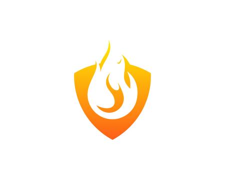 torch: Fire Flame Icon Logo Design Element Illustration