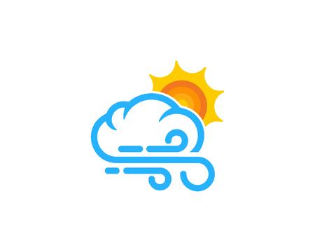 날씨와 시즌 아이콘 로고 디자인 요소입니다.