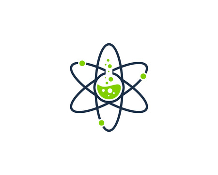 Science Lab Icon Logo Design Element Иллюстрация