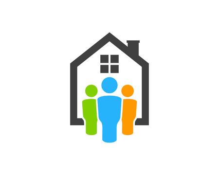 Immobilien-Ikone Logo Design Element Standard-Bild - 80819445