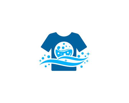 세탁 아이콘 로고 디자인 요소