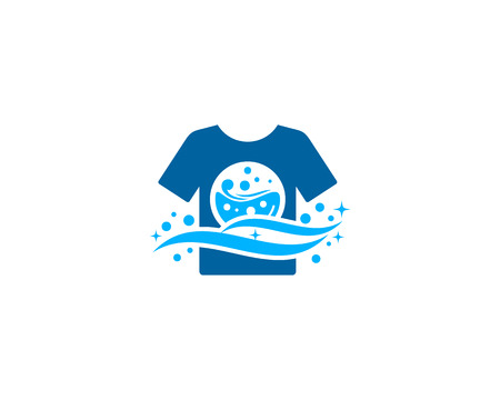 Laundry Icon Logo Design Element 免版税图像 - 80612002