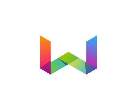 Letter W Icon Design Element