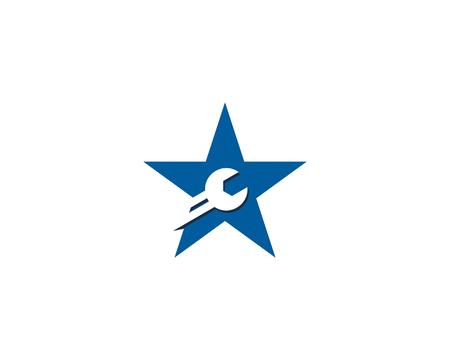 스타 아이콘 로고 디자인 요소 일러스트